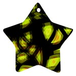 Yellow light Star Ornament (Two Sides)  Back
