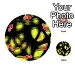 Yellow light Playing Cards 54 (Round)  Front - Heart9