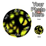 Yellow light Playing Cards 54 (Round)  Front - SpadeJ