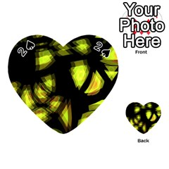 Yellow Light Playing Cards 54 (heart)  by Valentinaart