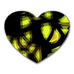 Yellow light Heart Mousepads