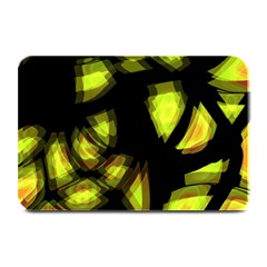 Yellow Light Plate Mats by Valentinaart