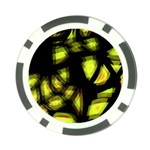 Yellow light Poker Chip Card Guards Back