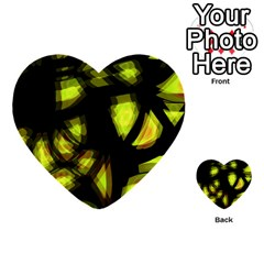 Yellow Light Multi Purpose Cards (heart)  by Valentinaart