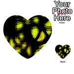 Yellow light Multi-purpose Cards (Heart)  Back 12