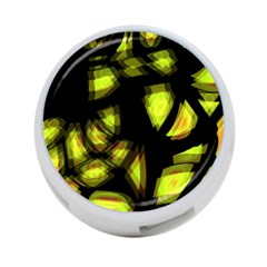 Yellow Light 4 Port Usb Hub (two Sides)