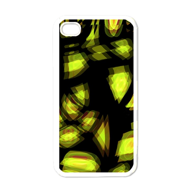 Yellow light Apple iPhone 4 Case (White)