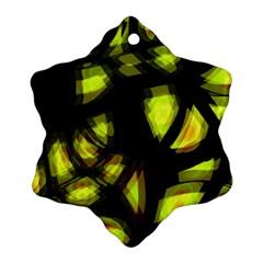 Yellow Light Ornament (snowflake)