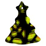 Yellow light Christmas Tree Ornament (2 Sides)
