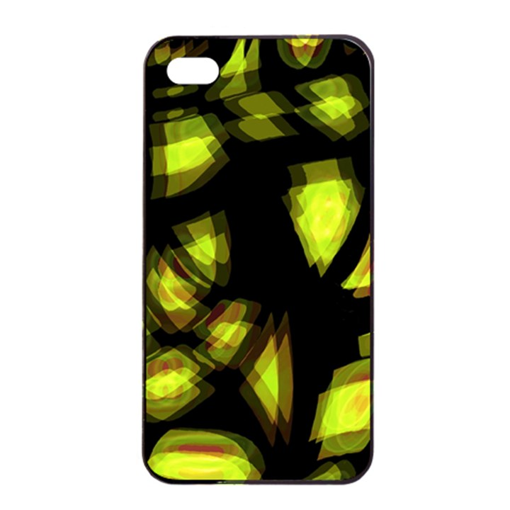 Yellow light Apple iPhone 4/4s Seamless Case (Black)