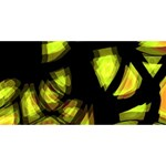 Yellow light Happy Birthday 3D Greeting Card (8x4) Front