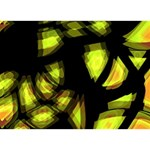 Yellow light WORK HARD 3D Greeting Card (7x5) Front
