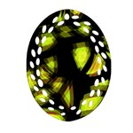 Yellow light Oval Filigree Ornament (2-Side)