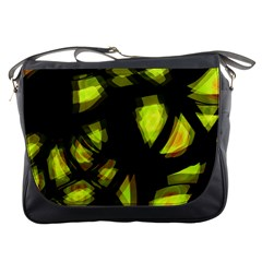 Yellow Light Messenger Bags by Valentinaart