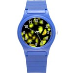 Yellow light Round Plastic Sport Watch (S)