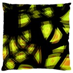 Yellow light Large Cushion Case (Two Sides) Back