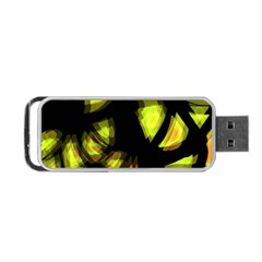 Yellow Light Portable Usb Flash (one Side)