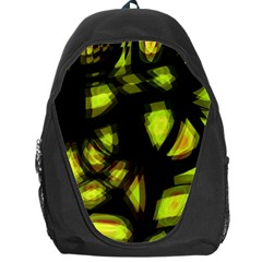 Yellow Light Backpack Bag by Valentinaart