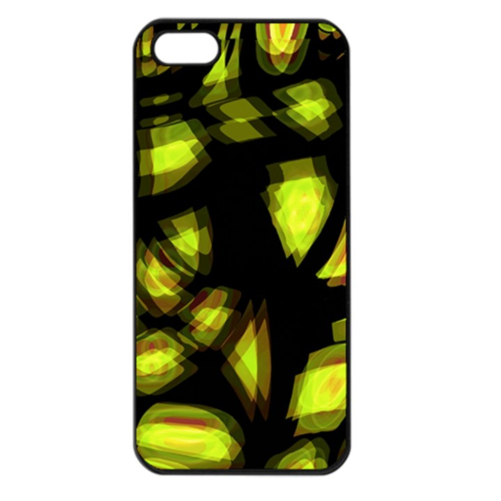 Yellow light Apple iPhone 5 Seamless Case (Black)