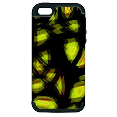 Yellow Light Apple Iphone 5 Hardshell Case (pc+silicone) by Valentinaart
