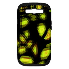 Yellow Light Samsung Galaxy S Iii Hardshell Case (pc+silicone) by Valentinaart