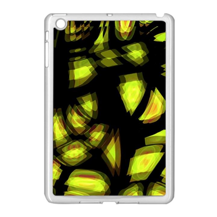 Yellow light Apple iPad Mini Case (White)