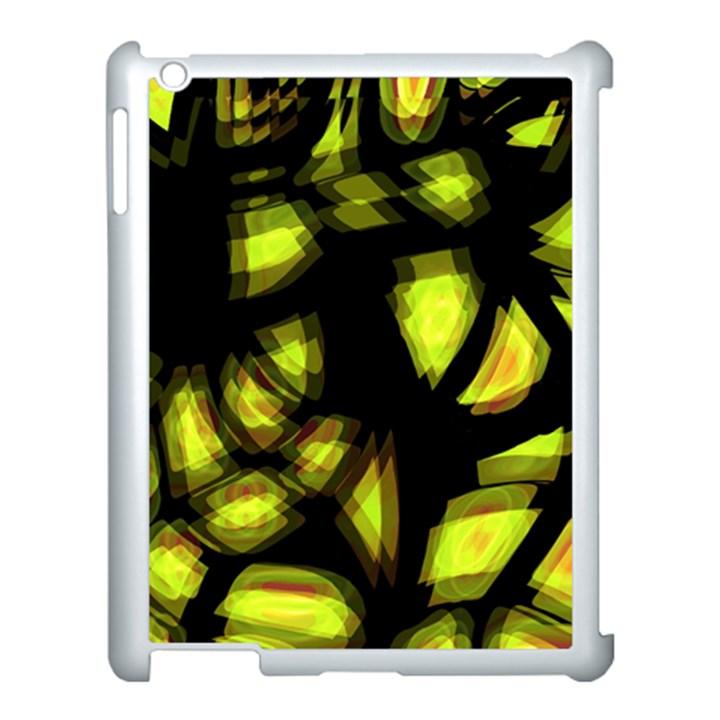 Yellow light Apple iPad 3/4 Case (White)