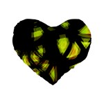 Yellow light Standard 16  Premium Heart Shape Cushions