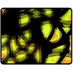 Yellow light Double Sided Fleece Blanket (Medium)