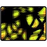 Yellow light Double Sided Fleece Blanket (Large)  80 x60 Blanket Back