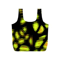 Yellow Light Full Print Recycle Bags (s)  by Valentinaart