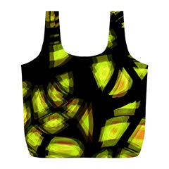 Yellow Light Full Print Recycle Bags (l)  by Valentinaart
