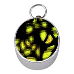 Yellow light Mini Silver Compasses