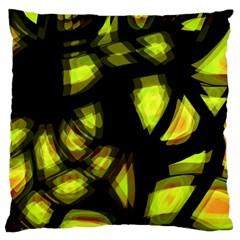 Yellow Light Large Flano Cushion Case (one Side)