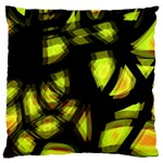 Yellow light Large Flano Cushion Case (Two Sides)