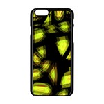 Yellow light Apple iPhone 6/6S Black Enamel Case