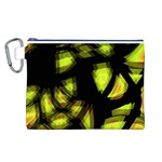 Yellow light Canvas Cosmetic Bag (L)
