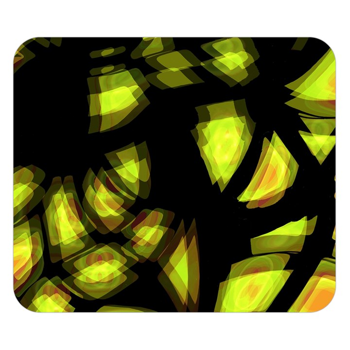 Yellow light Double Sided Flano Blanket (Small)