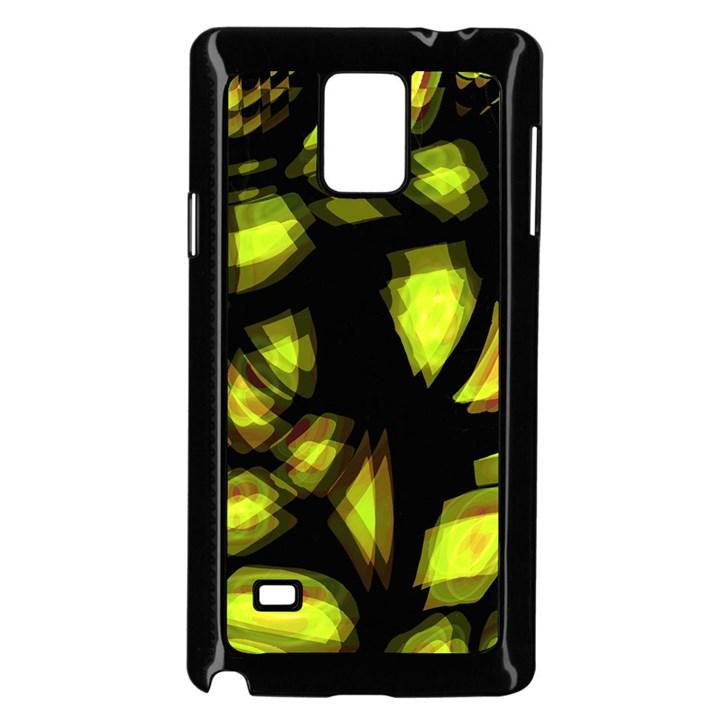Yellow light Samsung Galaxy Note 4 Case (Black)