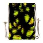Yellow light Drawstring Bag (Large)