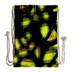 Yellow light Drawstring Bag (Large) Back