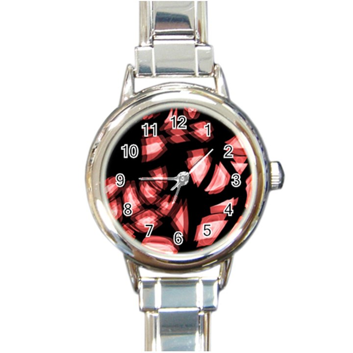 Red light Round Italian Charm Watch