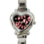 Red light Heart Italian Charm Watch Front