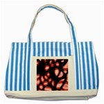 Red light Striped Blue Tote Bag Front