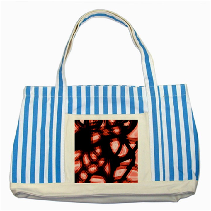 Red light Striped Blue Tote Bag