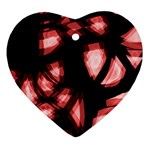 Red light Heart Ornament (2 Sides) Front