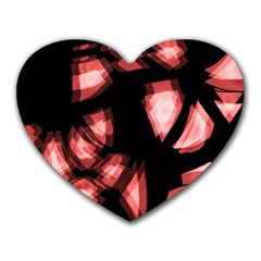 Red light Heart Mousepads
