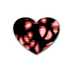 Red light Heart Coaster (4 pack)