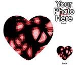 Red light Multi-purpose Cards (Heart)  Back 30