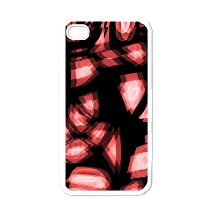 Red light Apple iPhone 4 Case (White)
